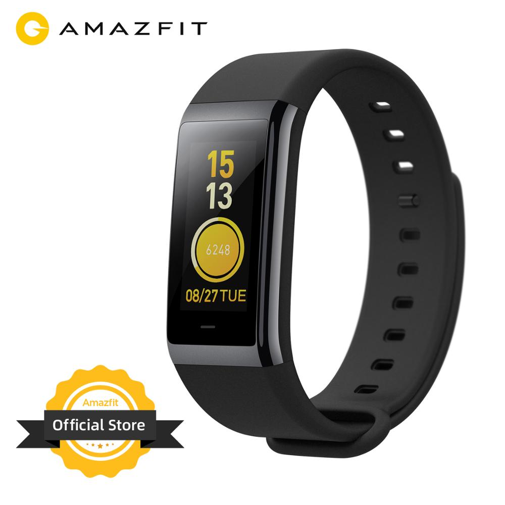 Amazfit Cor Smart Wrist Band Waterproof 5ATM Music Control 1 23 inch LCD Display Sleep Monitoring Ceramic Bezel