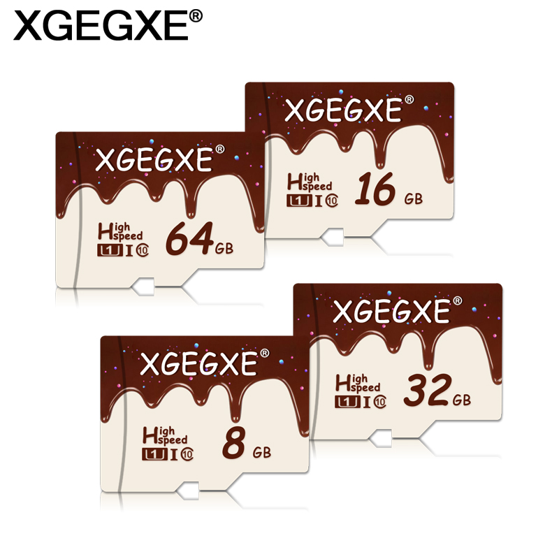 XGEGXE Mini Memory Card 32GB TF Card 64GB Class 10 Chocolate Jam Candy Style High Speed Mini Card 16GB T-Flash Card For Phone