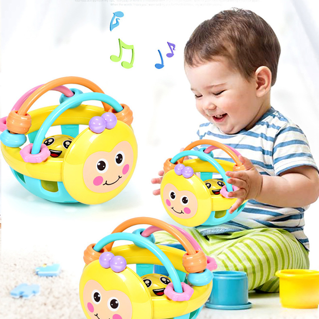 Funny Baby Toy Little Loud Bell Ball Rattles Mobile Toy Baby Toy Newborn Infant Intelligence Grasping Educational Toy A1