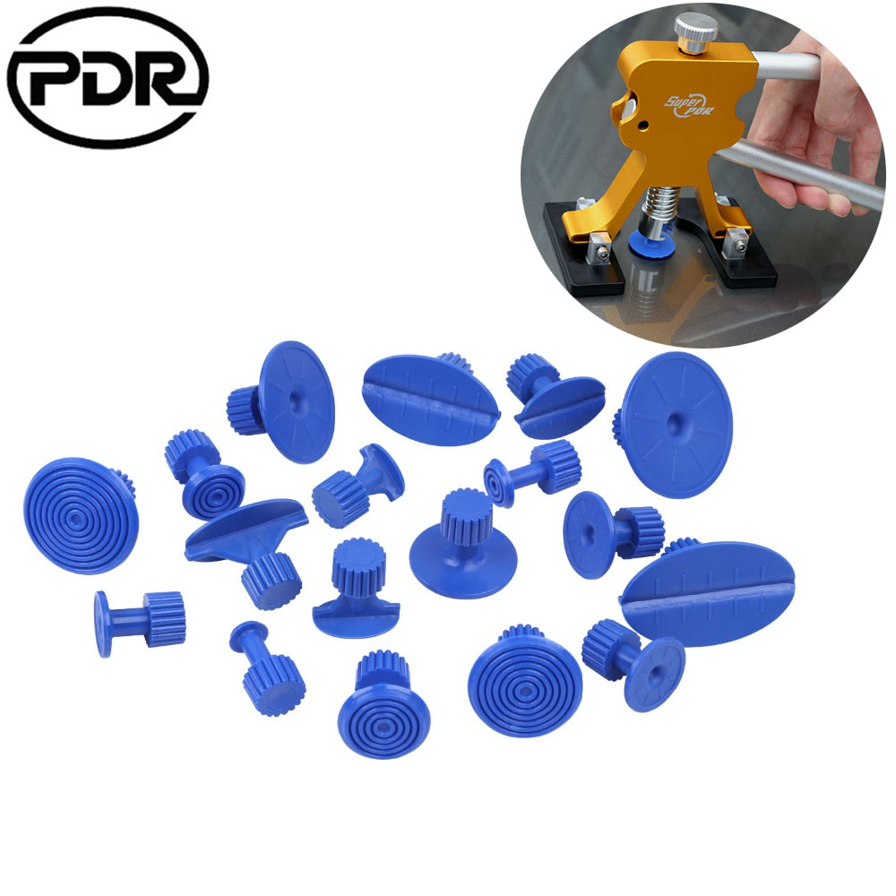 Queentres Car Body Paintless Dent Puller Lifter Glue Pulling Lifter Tabs Repair Hail Removal Tabs Tool Kit