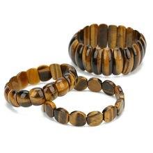 LOULEUR – Bracelets ethniques en œil de tigre pour hommes et femmes, bijoux indiens, tendance, en pierre naturelle, de marque célèbre, 2019
