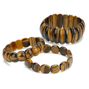 LOULEUR Ethnic Tiger Eye Buddha Bracelets & Bangles Trendy Natural Stone Bracelet For Women Famous Brand Men Indian Jewelry 2019