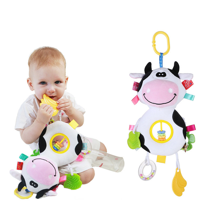 Infant Baby Rattle Plush Animal Stroller Hanging Bell Play Doll Cotton Soft Toy