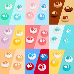 Image 1 - New Cute Cat Paw Claw Thumb Stick Grip Cap Joystick Cover For Nintend Switch Lite NS Joy Con Controller Gamepad Thumbstick Case