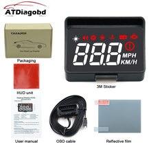 Hot!! auto HUD Head Up Display A100s OBD2 II EUOBD Überdrehzahl Warnung System Projektor Windschutzscheibe Auto Elektronische Spannung Alarm