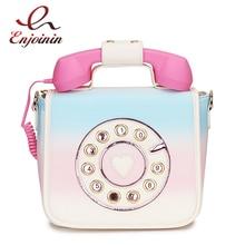 טרנדי טלפון עיצוב שיפוע צבע Pu נשי כתף תיק Tote Crossbody Messenger תיק לנשים מקרית תיק Bolsa ארנק דש