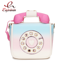 トレンディ電話デザイングラデーションカラーpu女性のショルダーバッグトートクロスボディのメッセンジャーバッグカジュアルハンドバッグボルサ財布フラップ