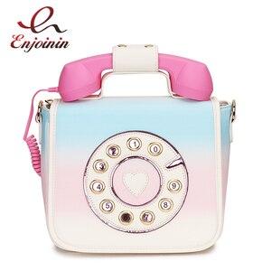 Image 1 - トレンディ電話デザイングラデーションカラーpu女性のショルダーバッグトートクロスボディのメッセンジャーバッグカジュアルハンドバッグボルサ財布フラップ