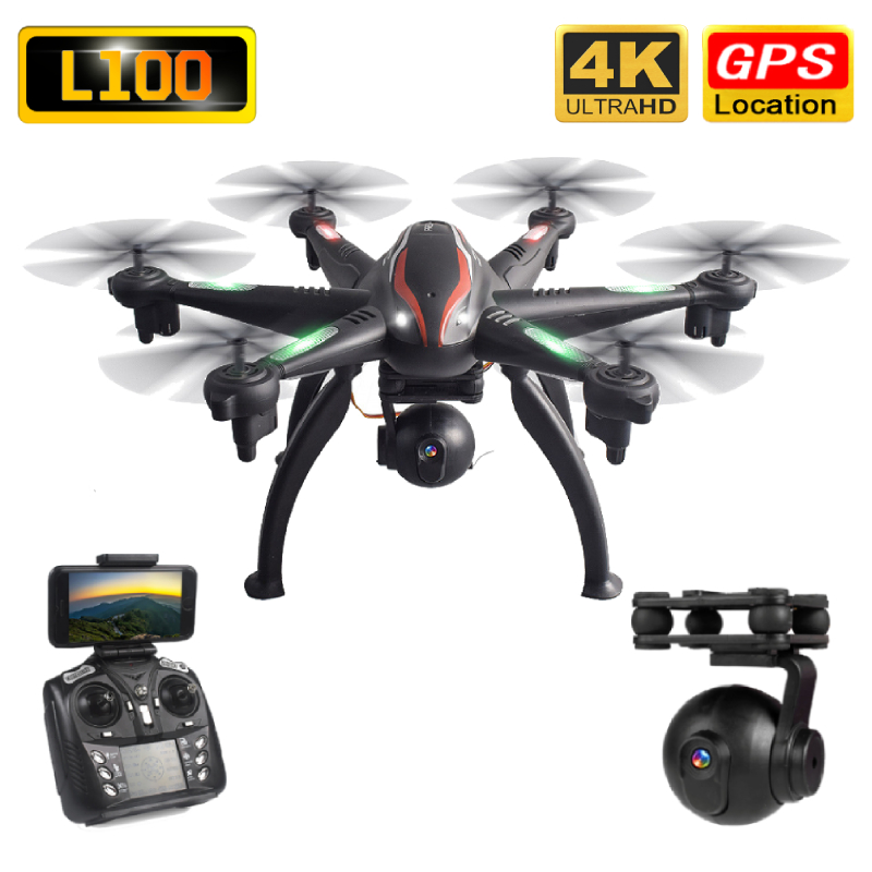 L100 Drone GPS 4K HD ESC Wide Angle Camera 5G WIFI FPV Selfie Drones Professional 400m Long Distance Follow Me RC Quadcopter