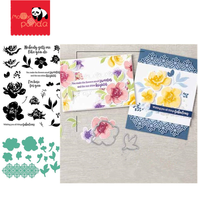 MP152 FABULOUS FLORALS Metal Cutting Dies And Stamps Stencil For DIY Scrapbooking Paper/photo Cards Embossing Dies