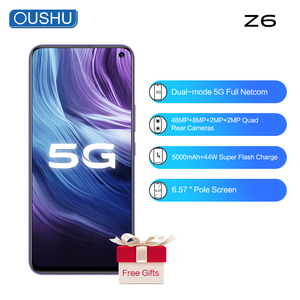 Смартфон vivo 5G, Z6, Snapdragon 76, 5G, Android 10,0, сканер отпечатков пальцев + распознавание лица, 48 МП, 4 камеры заднего вида, 44 Вт, флеш-зарядка, 5G, мобильный телефон, 2020
