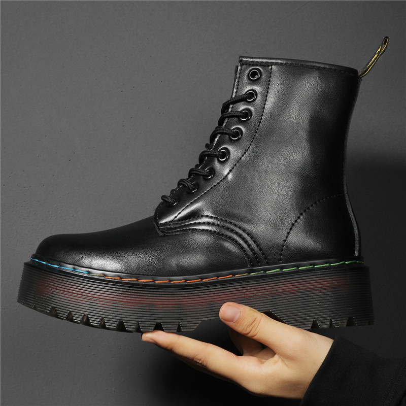 Women Boots Winter Warm Fur High Quality Genuine Leather Chunky Heel Ankle Shoes Waterproof Snow Boots Free Shipping Black Boots|Ankle Boots| - AliExpress