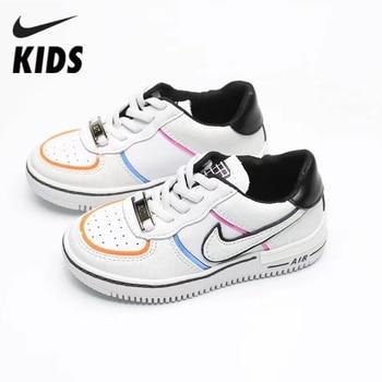 Nike Kids Shoes Air Force 1 Shadow AF1Children's Shoes Splicing Deconstruction Woman Skate Shoes Ci0919-003