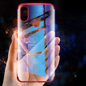 Image 3 - Chapeamento de silicone caso do telefone para redmi note 5 5a 6 pro plus prime y1 y2 s2 6pro 5plus macio claro ultrafino proteger gel volta capa