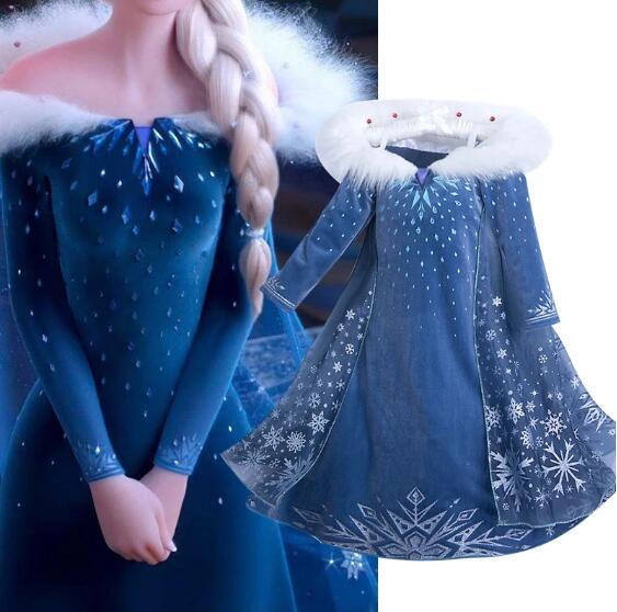 Elsa princesa vestido de natal trajes de festa de halloween crianças vestidos de aniversário robe crianças congelados roupas vestido traje
