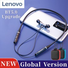 NEUE Lenovo HE05 Neckband Drahtlose Bluetooth Kopfhörer BT 5,0 HIFI Stereo HD Anruf Sport Headset Wasserdichte Globale Version