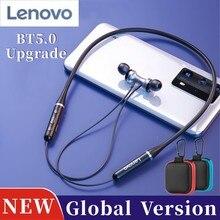 Yeni Lenovo HE05 boyun bandı kablosuz Bluetooth kulaklık BT 5.0 HIFI Stereo HD çağrı spor kulaklık su geçirmez küresel sürüm