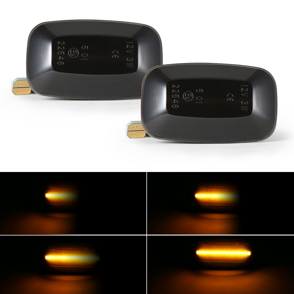 Luz marcador lateral dinâmica de led, luzes