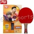 Оригинальная Теннисная ракетка DHS для настольного тенниса с 3 звездами (3002  3006)  ракетка для пинг-понга с резиновой (  Pips-in)