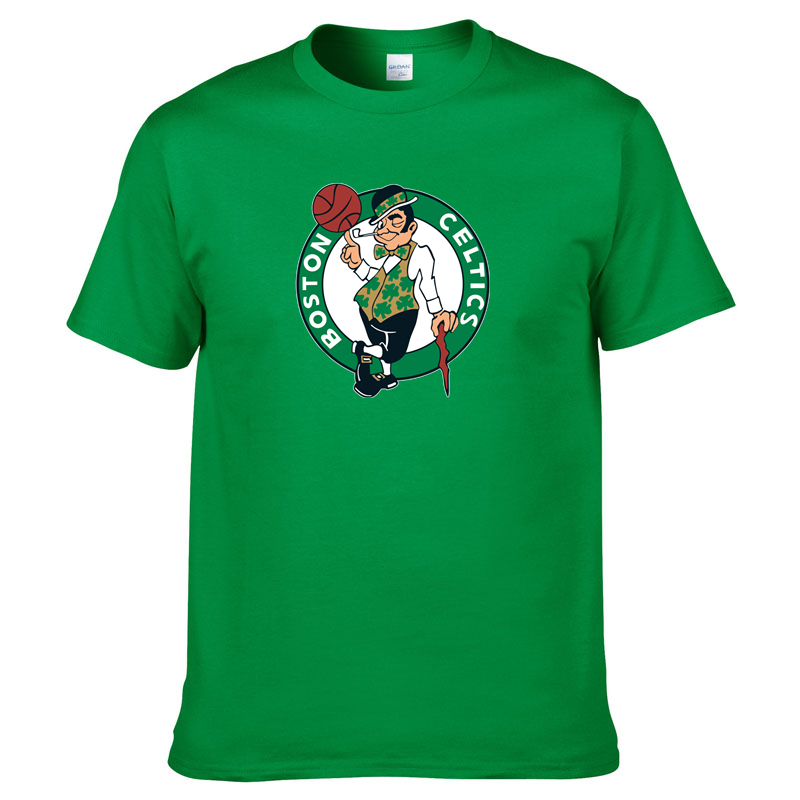 New Boston Mens Summer Cotton Tshirt The Green T-Shirt Celtics Men Hip Hop Streetwear Tops Tees Harajuku Short Sleeve TShirts