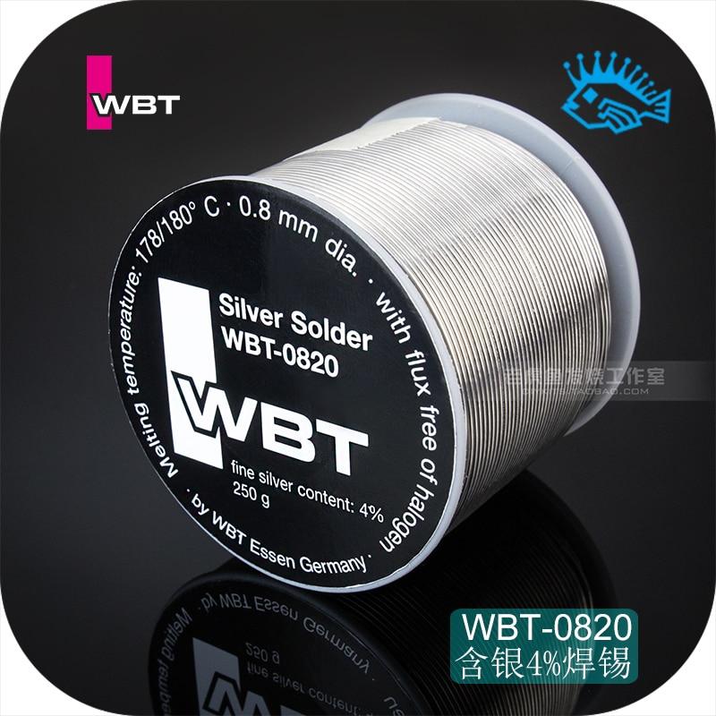 1 Meter/5 Meter/20 Meter/70 Meter Germany WBT-0820 0.8mm Silver 4% Fever Audio Low Melting Point Solder Wire Tin-wire