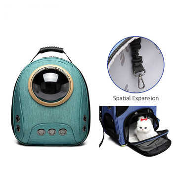 Pet Cat Backpack Travel Cat Carrier Double Shoulder Bag Premium Window Astronaut Bag Cats Breathable Outdoor Portable Bags