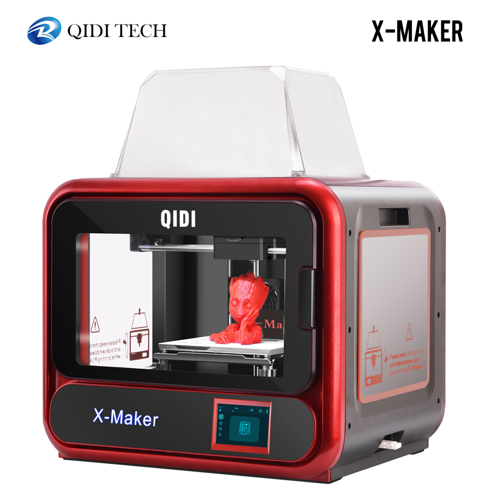 QIDI X MAKER 3D Printer Educational Grade Impresora 3D Drucker High Precision Print size 170mm*150mm*160mm with ABS,PLA,Flexible3D Printers   -