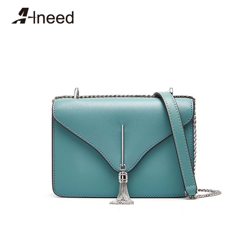 ALNEED Designer Bags Famous Brand Women Bags 2019 Genuine Leather Chain Shoulder Bags Ladies Purse Clutch Crossbody Bag