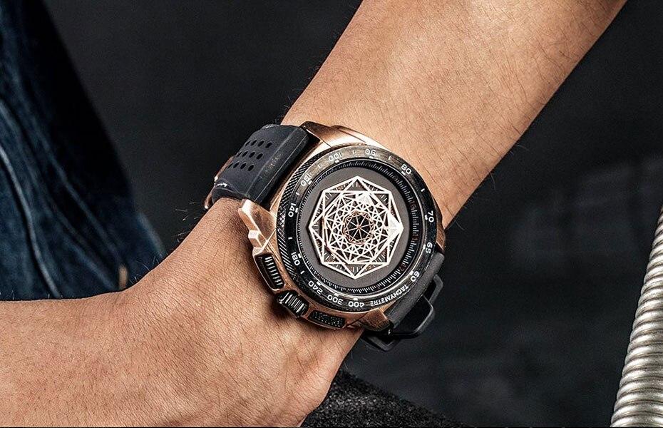 Ruimas silicone esportes relógios masculinos moda causal