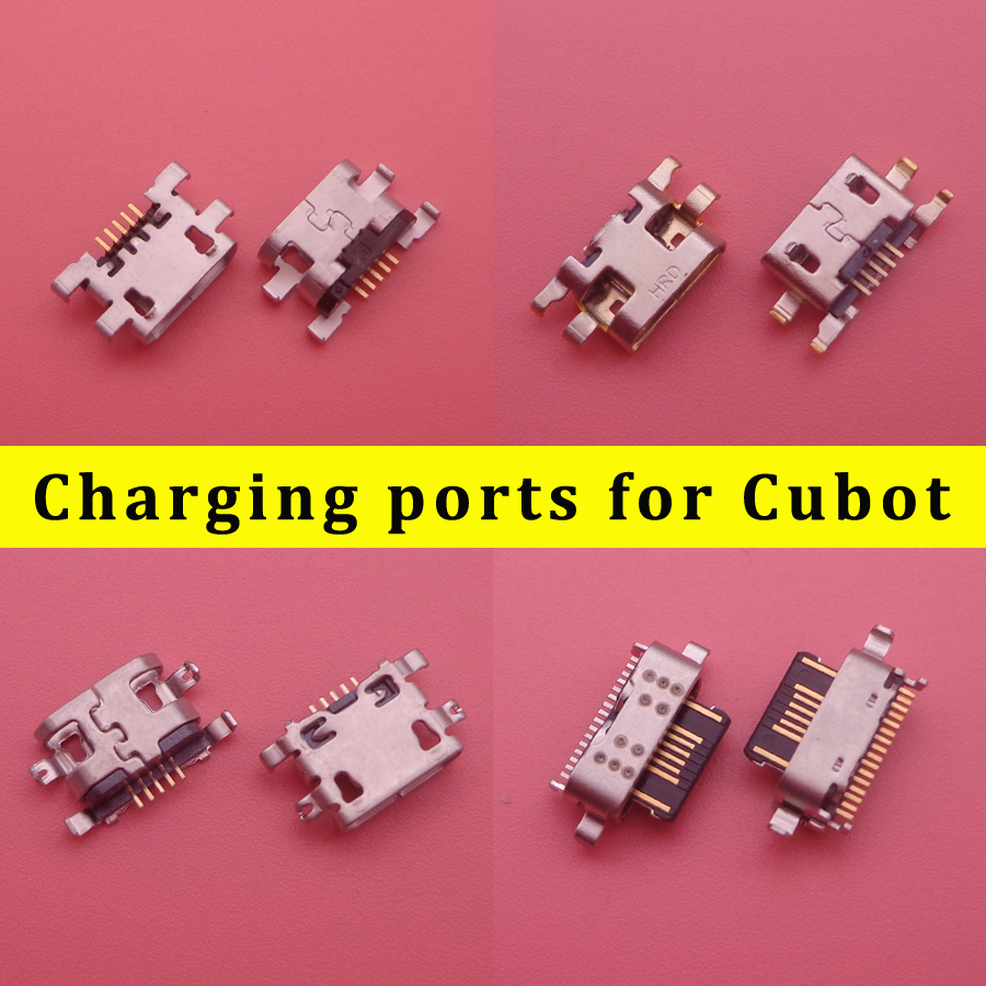 10PCS For Cubot X18 Plus King Kong Nova X19 USB Connector Socket Flex Dock Charger Charging Port Assembly Repair Parts