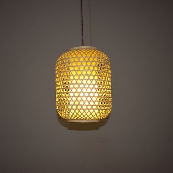 Bamboo lantern Chandelier rattan lantern Southeast Asia Teahouse Restaurant Handicraft lamp Interior antique decoration