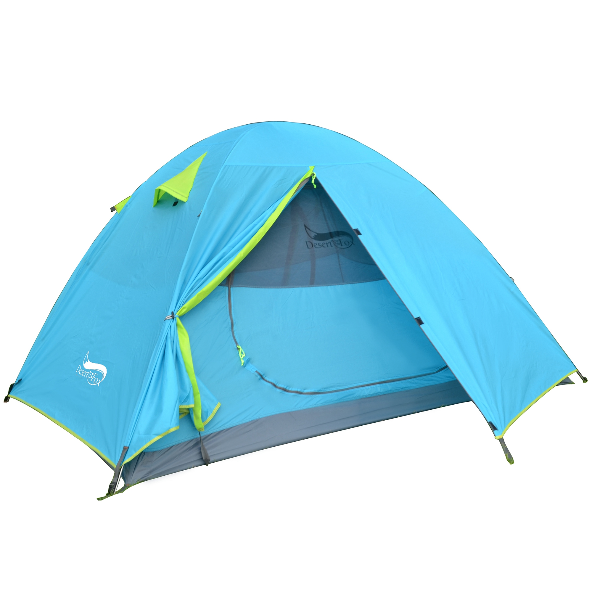 2 person tent blue