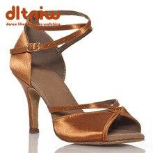 2020 Woman Black Tan Dancing Ballroom Shoe Women Wide Width Custom Heels Salsa Latino Womens Latin Dance Shoes