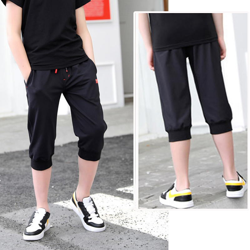 DIIMUU Summer Fashion Baby Boys Short Pants Clothes Kids Boy Casual Pants Clothing Child Teens Boy Elastic Waist Overalls