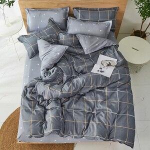 Image 2 - Juego de cama con estampado reactivo para el hogar, funda de edredón, ropa de cama, sábanas planas, 3 o 4 Uds., individual completo