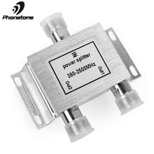 2 WAY Power Divider โทรศัพท์มือถือสัญญาณ Repeater 380 2500 MHz 2 WAY SIGNAL SPLITTER สำหรับโทรศัพท์มือถือสัญญาณ booster Amplifier 50ohm