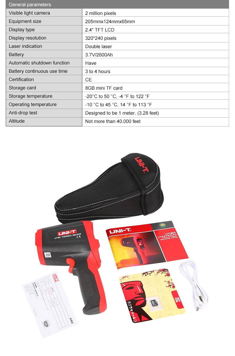 UNI-T Thermal Imaging Camera With SD Card Slot And USB Interface 13