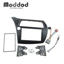 Für Honda Civic Doppel Din Fascia Radio DVD Stereo CD Panel Dash Montage Installation Trim Kit Gesicht Rahmen Lünette Mit draht Harne