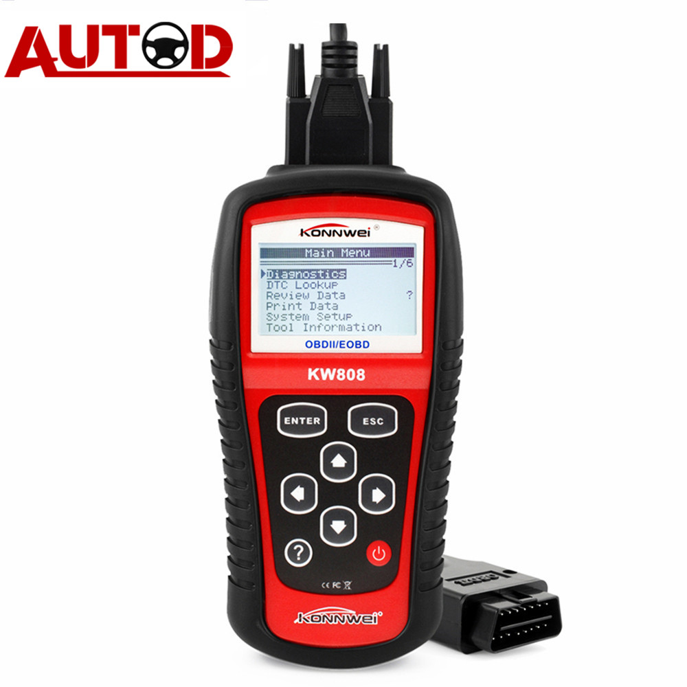 OBD2 сканер KONNWEI KW808 автомобильный диагностический инструмент OBD 2 автоматический сканер считыватель кодов двигателя Поддержка CAN J1850