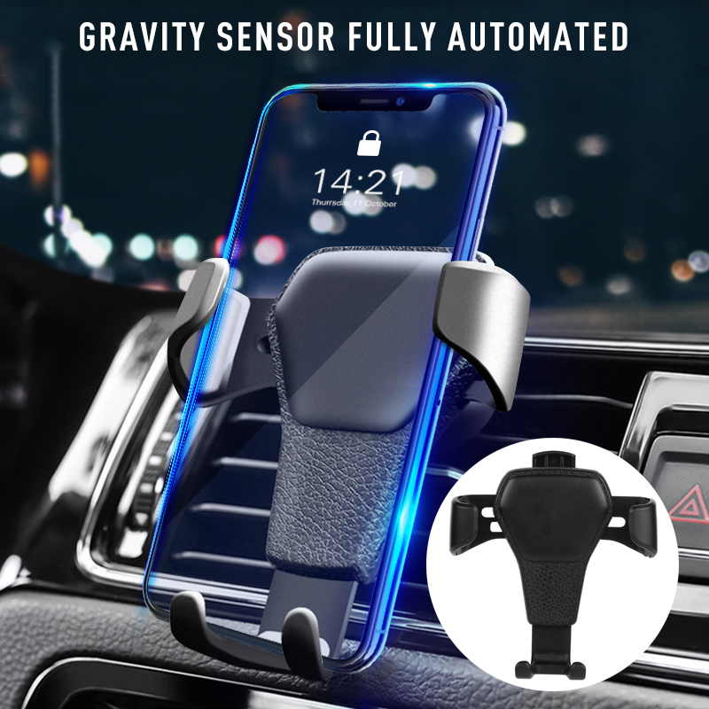 Mount Phone Holder In Car Air Vent Anti-skid Stand Anti-fall Mobile Phone Car Air Outlet Gravity Mobile Phone Holder