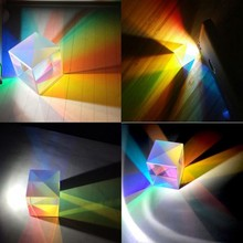 Optical Color Prism 18mm Six-sided Bright Light Ice Cube Beam Splitting Prisms K9 Glass Lens Teaching Experiment Tool Customized