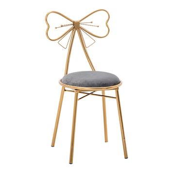 Modern Minimalist Dressing Table Stool Bedroom Back Princess Bow Manicure Makeup Chair Ins Nordic Girl Heart