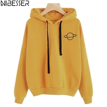 NIBESSER Fashion Brand Harajuku Style Hoodies For Girls Casual Hooded Tops