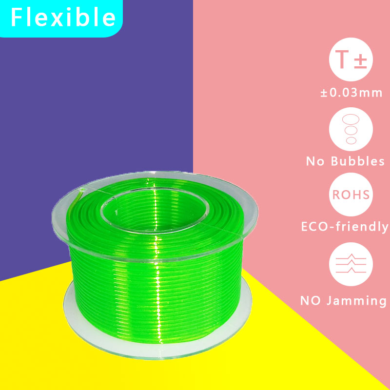 3D Printer plastic TPU filament Flexible Soft rubber Supplies material Filament 1.75mm 100G about 35 meters 14 colors Available