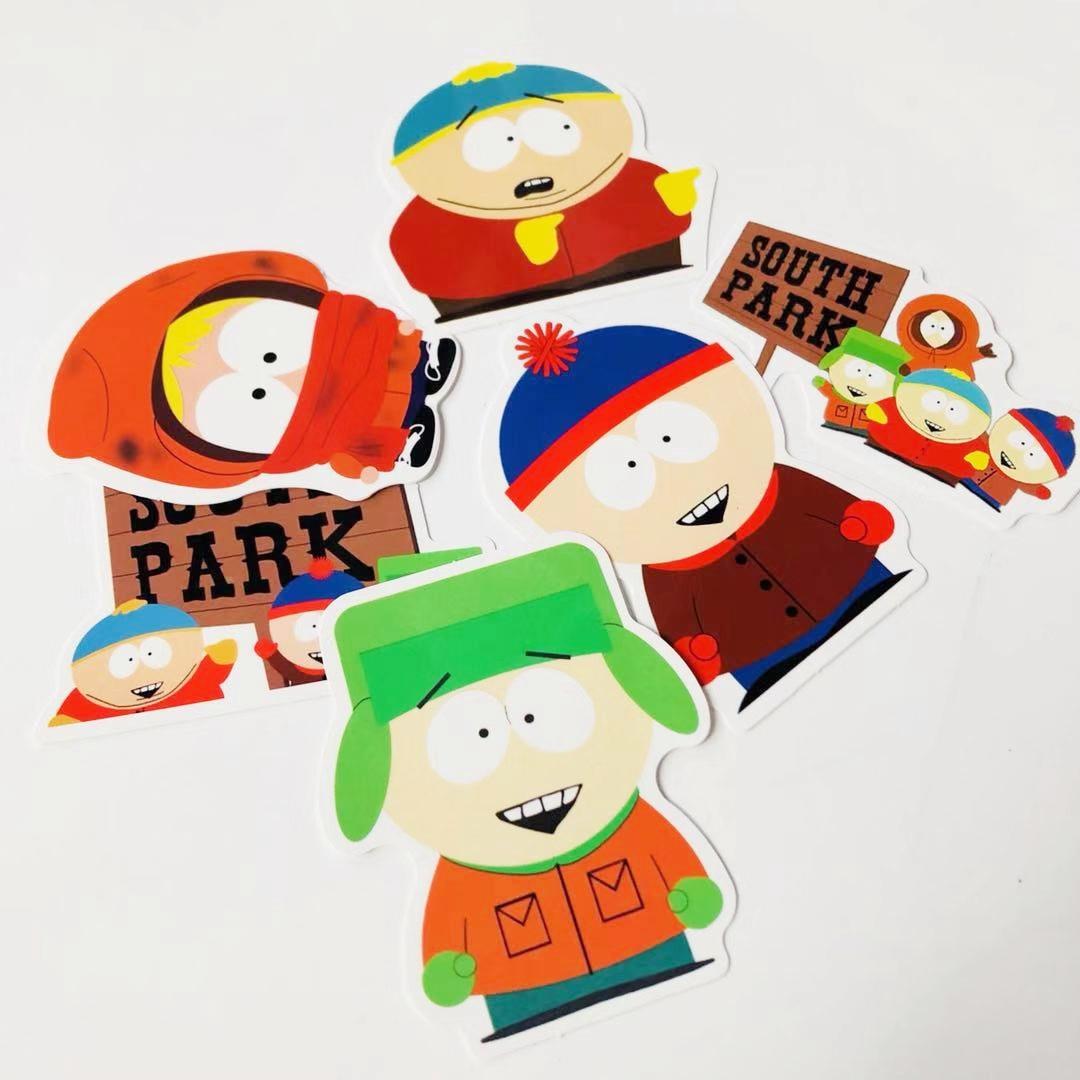 Southpark South Park กาวกระดาษแท็บเล็ตสเก็ตบอร์ดโทรศัพท์มือถือคอมพิวเตอร์กระดาษกาวกันน้ำการค้าต่างป...