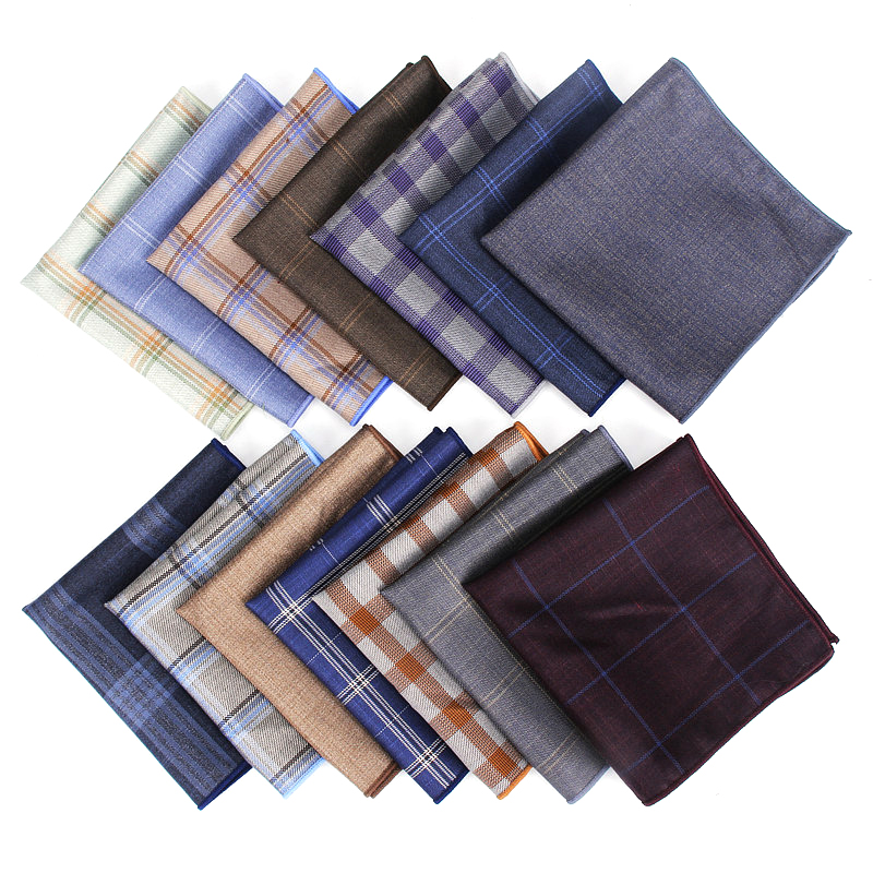 2019 Brand New Men's Plaid Hankerchief Scarves Vintage Cotton Vintage Hankies Check Men's Pocket Squares Handkerchiefs