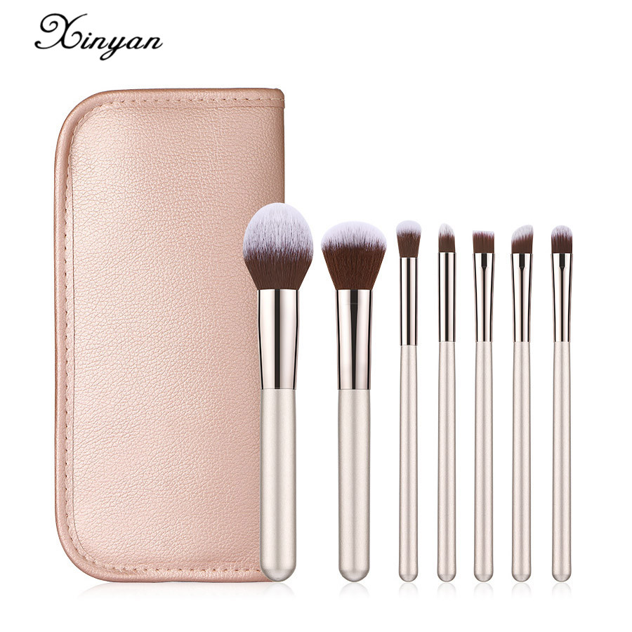 Xinyan Makeup Brushes Set Pink Foundation Brush Eyeshadow Powder Make Up Pincel Maquiagem Makeup Brush Set 7pcs Mega Promo 11d07 Cicig