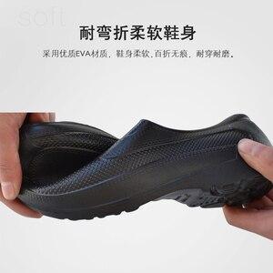 Image 4 - Męskie krótkie podkolanówki o niskim kroju Super lekkie buty kelnerskie EAV buty szefa kuchni hotelowa restauracja kuchnia wodoodporne obuwie robocze