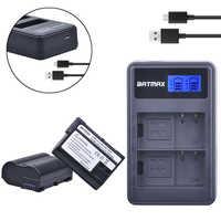 EN-EL15 EN EL15 ENEL15 Bateria akku + LCD Chargeur Double USB pour Nikon D600 D610 D600E D800 D800E D810 D7000 D7100, Z6, Z7