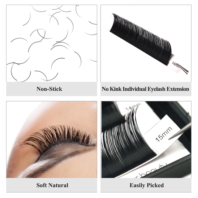 Individual Eyelash Extension Faux Mink Eyelash Curl B/C/CC/D 0.03-0.25mm Thickness Classical Eyelashes Maquiagem Cilios Eye Lash 3